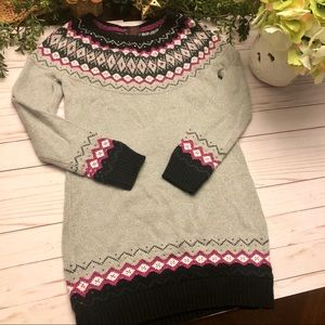 Girls Cynthia Rowley gray & pink sweater dress M